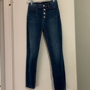 WHBM size 4 Button fly skinny ankle jean